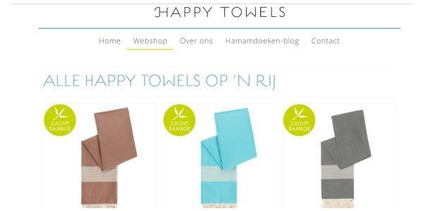 Biologische katoenen handdoeken van HappyTowels.nl