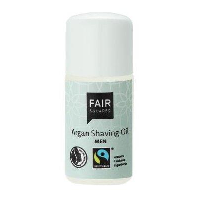 Scheer olie man met Fairtrade arganolie