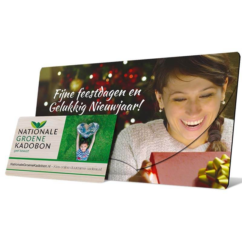 groene cadeaubon kerst